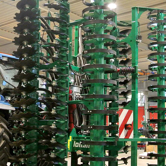 Maschinenbörse Lomma Sachsen Vorführmaschine Güllekurzscheibenegge mit Zwischenfruchtsägerät