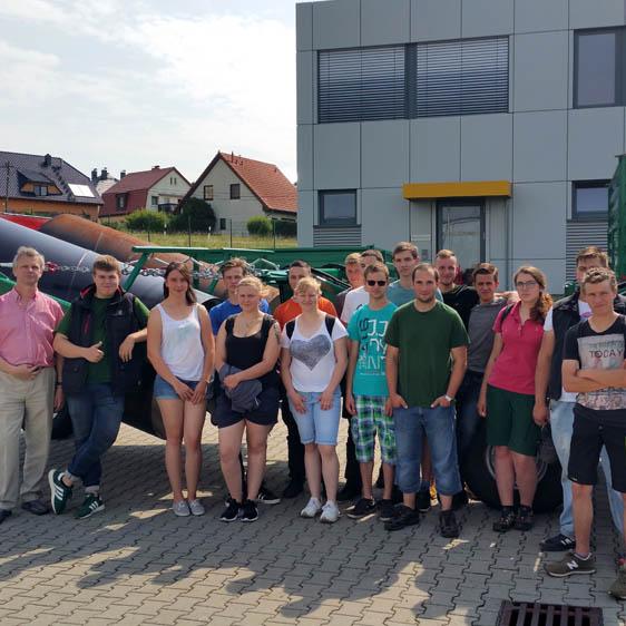Beruflichen Schulzentrums für Agrarwirtschaft und Ernährung Dresden besucht Lomma Sachsen