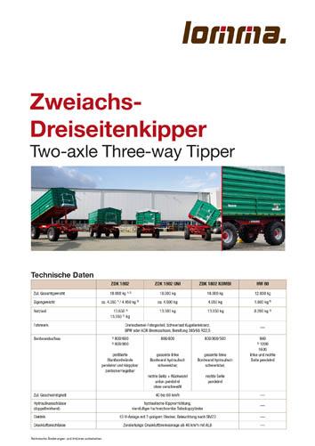 Lomma Sachsen ZDK Zweiachs-Dreiseitenkipper